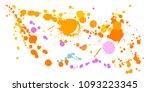 ink stains grunge background... | Shutterstock .eps vector #1093223345