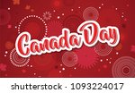 happy canada day poster. 1st... | Shutterstock .eps vector #1093224017