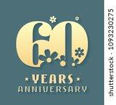 60 years anniversary vector... | Shutterstock .eps vector #1093230275