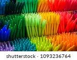 detail of colorful marker pen... | Shutterstock . vector #1093236764
