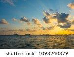 beautiful natural sky of sunset   Shutterstock . vector #1093240379