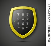 shield with electronic... | Shutterstock . vector #1093244234