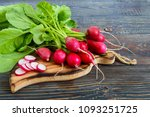 summer harvested red radish.... | Shutterstock . vector #1093251725