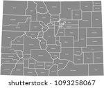 colorado county map vector... | Shutterstock .eps vector #1093258067