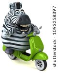 fun zebra   3d illustration | Shutterstock . vector #1093258397