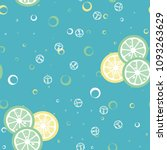 fruit pattern with lemon and... | Shutterstock .eps vector #1093263629