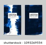 set of vector business card... | Shutterstock .eps vector #1093269554
