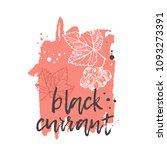 black currant concept design.... | Shutterstock .eps vector #1093273391