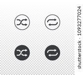 shuffle and loop icon isolated...