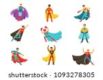male superheroes in classic... | Shutterstock .eps vector #1093278305