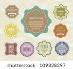vintage label for retro banners.... | Shutterstock .eps vector #109328297