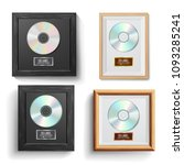 cd disc award set vector.... | Shutterstock .eps vector #1093285241