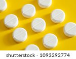 white medication pills... | Shutterstock . vector #1093292774