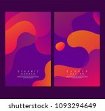 futuristic poster set with... | Shutterstock .eps vector #1093294649