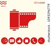 photographic film cassette icon | Shutterstock .eps vector #1093296779