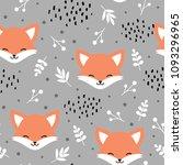 cute fox seamless pattern  wolf ...   Shutterstock .eps vector #1093296965
