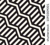 vector seamless zigzag line... | Shutterstock .eps vector #1093309001