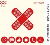 cross adhesive bandage  medical ... | Shutterstock .eps vector #1093311419
