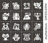 vector alice in wonderland icon ... | Shutterstock .eps vector #1093313594