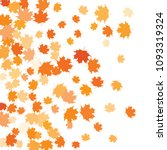 confetti of multicolored leaves ... | Shutterstock .eps vector #1093319324