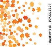 confetti of multicolored leaves ... | Shutterstock .eps vector #1093319324
