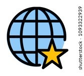 favorite or starred network   Shutterstock .eps vector #1093322939