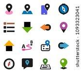solid vector ixon set   compass ... | Shutterstock .eps vector #1093323041