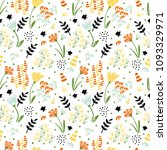 trendy floral pattern in the...   Shutterstock .eps vector #1093329971