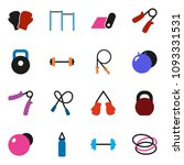 solid vector icon set   barbell ... | Shutterstock .eps vector #1093331531