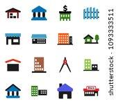 solid vector icon set   school... | Shutterstock .eps vector #1093333511
