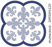 vintage tile design vector | Shutterstock .eps vector #1093341125