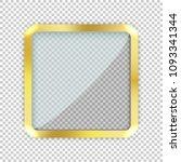 modern gold vector empty frame...   Shutterstock .eps vector #1093341344