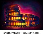 vector illustration of roman... | Shutterstock .eps vector #1093344581