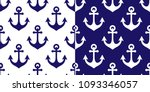 anchor vector seamless pattern  ... | Shutterstock .eps vector #1093346057