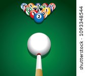 Billiard Balls On Green...
