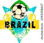 soccer   football fictional... | Shutterstock .eps vector #1093358627