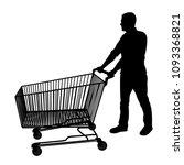 shopping cart vector silhouette ... | Shutterstock .eps vector #1093368821