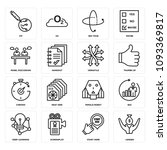 set of 16 simple editable icons ... | Shutterstock .eps vector #1093369817
