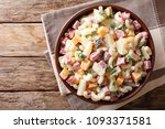 hawaiian food  salad with pasta ... | Shutterstock . vector #1093371581