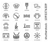 set of 16 simple editable icons ...   Shutterstock .eps vector #1093376309