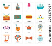 set of 16 simple editable icons ...   Shutterstock .eps vector #1093379057