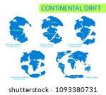 continental drift. vector... | Shutterstock .eps vector #1093380731