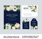 floral invitation template with ... | Shutterstock .eps vector #1093382567