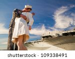 Unconditional Surrender Statue at USS midway
