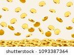 falling coins  falling money ... | Shutterstock .eps vector #1093387364