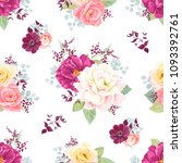 seamless pattern with colorful... | Shutterstock .eps vector #1093392761
