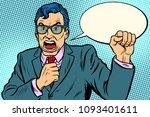 man politician swears. pop art... | Shutterstock .eps vector #1093401611