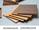 samples of material  wood   on...   Shutterstock . vector #1093402319