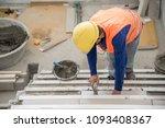 construction worker wear safety ...   Shutterstock . vector #1093408367