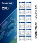 2013 calendar. | Shutterstock .eps vector #109341521
